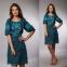 Платье Окошко 1521 зеленое 0