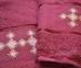 Набор полотенец из хлопка Merzuka бордовый 0