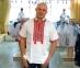 Вышиванка мужская короткий рукав белая с красно-черной вышивкой 0000 0