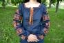 Вышиванка женская Волшебна птица с оранжевой вышивкой 1037.1 1