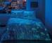 Постельное белье сатин-fluorescent ТМ TAC Talia Red евро-размер 0
