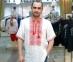 Вышиванка мужская короткий рукав белая с красной вышивкой 2001 0