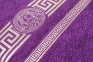 Махровое полотенце люкс с золотым бордюром Узбекистан 480г/м2 фиолетовое 2