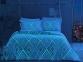 Постельное белье сатин-fluorescent ТМ TAC Gina Blue евро-размер 0