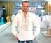 Вышиванка мужская белая с бежевой вышивкой 2003.1 0