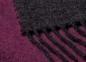 Плед шерстяной ТМ Biederlack Dark Velvet beere-graphit 130х170 1