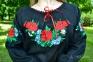 Женская вышиванка Волошка черная 1011.1 2