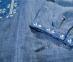 Вышиванка мужская джинс с сине-белой вышивкой 2004.1 3