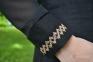 Вышиванка женская Миргород рельеф с гипюровым рукавом бежевая вышивка 1025.1 2