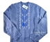 Вышиванка мужская джинс с сине-белой вышивкой 2004.1 4