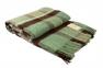 Плед шерстяной ТМ Vladi Уют зелено-коричневый 170х210 0