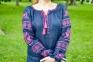 Вышиванка женская Волшебна птица с розовой вышивкой 1037.1 1
