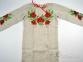 Вышиванка для девочки Мак укроп серый лен 1
