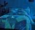 Постельное белье сатин-fluorescent ТМ TAC Izzie Blue евро-размер 0