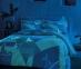 Постельное белье сатин-fluorescent ТМ TAC Izzi Blue евро-размер 0