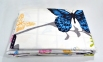 Постельное бельё сатин ТМ TAC Butterfly Blue евро-размер 1