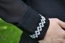 Вышиванка женская Миргород рельеф с гипюровым рукавом бирюзовая вышивка 1025.1 1