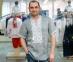 Вышиванка мужская короткий рукав серая с белой вышивкой 2003 0