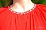 Платье Дерево жизни 1520 красное с белой вышивкой 4