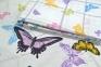 Постельное бельё сатин ТМ TAC Butterfly Blue евро-размер 2