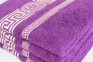 Махровые полотенца люкс с золотым бордюром ОПТ Узбекистан 480г/м2 фиолетовый 70х140см 2