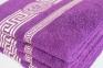 Махровое полотенце люкс с золотым бордюром Узбекистан 480г/м2 фиолетовое 0