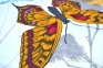 Постельное бельё сатин ТМ TAC Butterfly Blue евро-размер 6