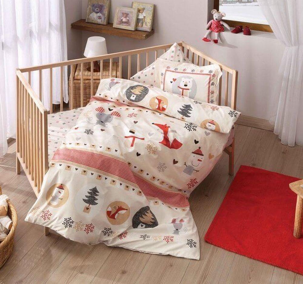 Постель в детскую кроватку для новорожденных