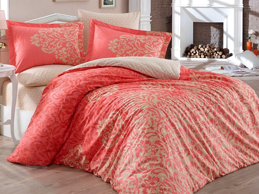 9ace0e4c222d Постельное белье ТМ Hobby Poplin Serenity красное евро-размер купить ...