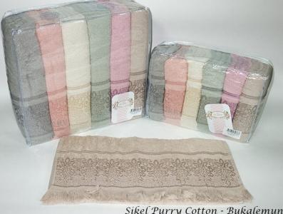 Набор полотенец из 6 штук ТМ Sikel Purry Cotton Bukalemun