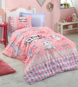Подростковое постельное белье ТМ Cotton Box ранфорс Animals Pembe