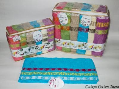 Набор полотенец из 6 штук Cestepe VIP Cotton Tugra