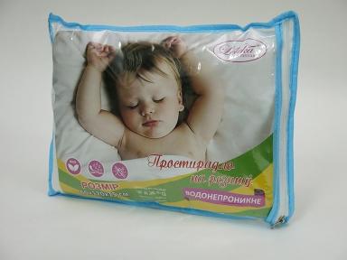 Простынь на резинке непромокаемая ТМ Leleka-Textile махровая Антивода с бортами детская 60х120 см.