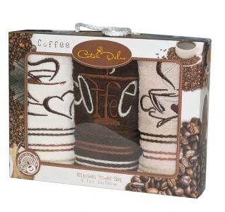 Набор полотенец кухонных 3 шт ТМ Gursan coffee 2 30х50