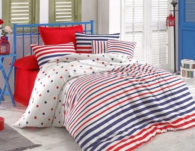 Подростковое постельное бельё ТМ Eponj Home ранфорс Clup Lacivert