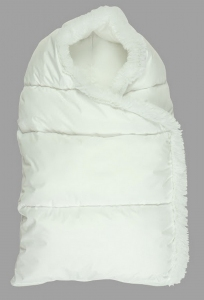 Зимний конверт на молнии ТМ Руно Пуховичок белый 75х45