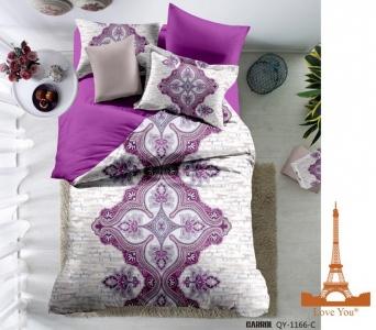 Постельное белье ТМ Love You сатин-digital Виолетта евро-размер