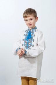 Вышиванка для мальчика Гетман синяя 3002