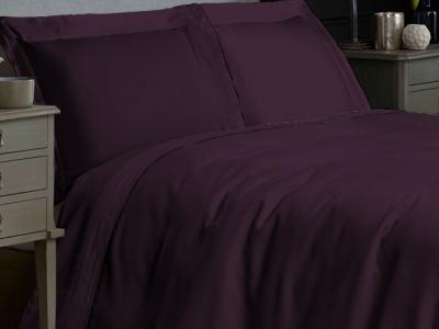 Постельное белье ТМ Novita сатин гладкокрашеный Dark Plum евро-размер