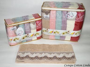 Набор полотенец из 6 штук Cestepe VIP Cotton Linda