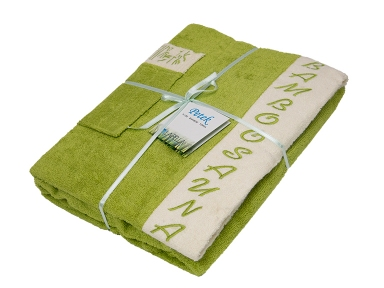 Набор ТМ Petek La Bella для сауны женский 3-х предметный бамбуковый зеленый