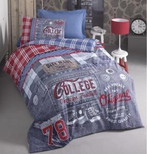 Подростковое постельное белье ТМ Cotton Box ранфорс Bluejeans Mavi