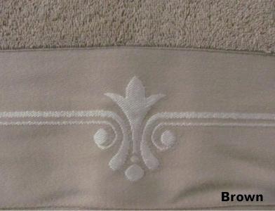 Полотенце ТМ Arya бамбук-жаккард Lale светло-коричневое 50Х90