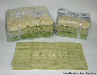 Набор полотенец из 6 штук ТМ Cestepe MicroCotton Delux Orient green