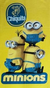 Полотенце велюровое пляжное Турция Minions Chiquita 75х150