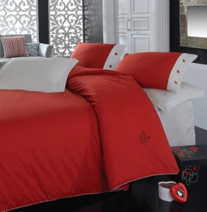 Постельное бельё ТМ Cotton Box ранфорс Plain Kirmizi евро-размер