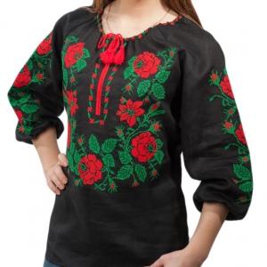 Вышиванка женская Розы полтавские 1006