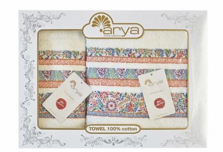 Набор махровых полотенец из 2 шт ТМ Arya жаккард Dove