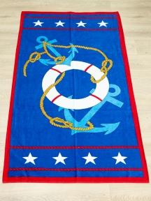 Полотенце велюровое пляжное Турция Anchor-Stars 75х150 см