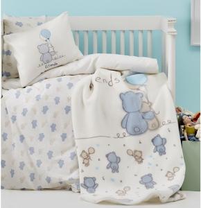 Постельное белье ТМ Karaca Home детский Blue Bears